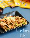 Papad rolls recipe