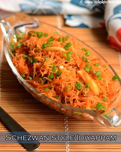 Schezwan style idiyappam recipe