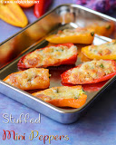 Paneer stuffed mini peppers recipe