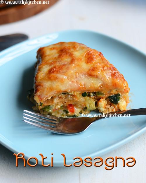 Chapati lasagna, roti lasagna