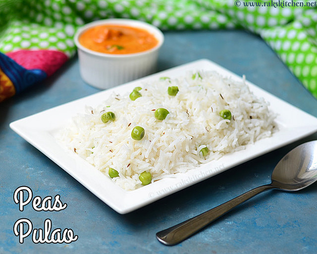peas pulao no onion no garlic
