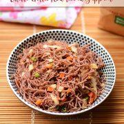 chilli garlic red rice idiyappam