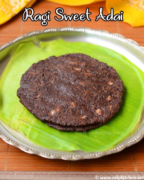 sweet-ragi-adai-recipe