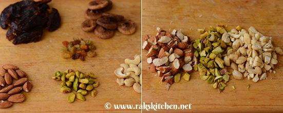 Chop nuts