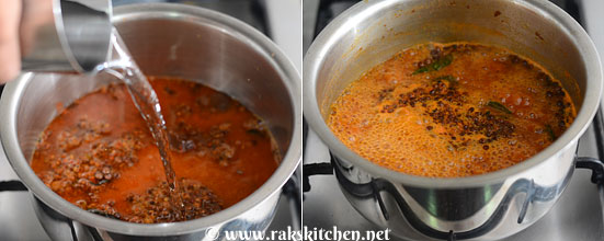 add tamarind, boil well