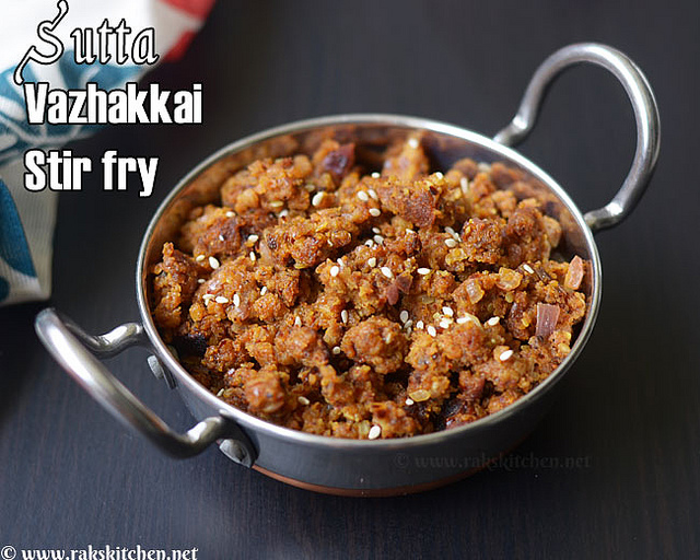 sutta-vazhakkai-fry