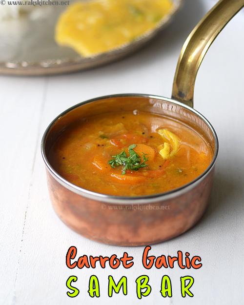 carrot garlic sambar