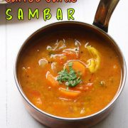 carrot-garlic-sambar