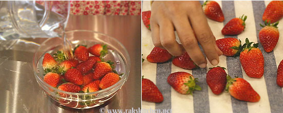 chocolate covered strawberry-prep-step1
