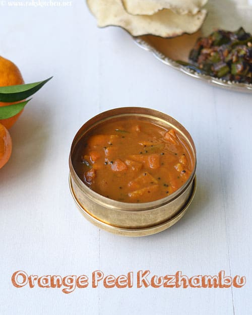 orange peel vatha kuzhambu