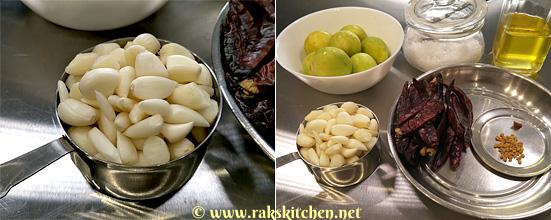 garlic pickle ingredients