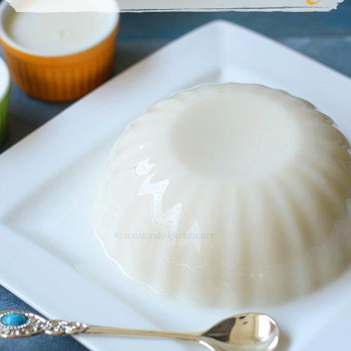 Tender coconut pudding, elaneer pudding recipe