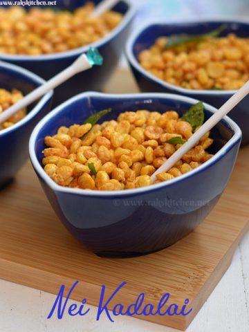 Nei Kadalai recipe, Chana dal namkeen
