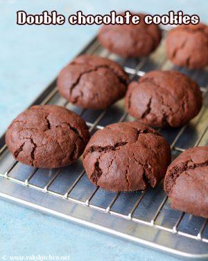eggless-double-chocolate-cookies
