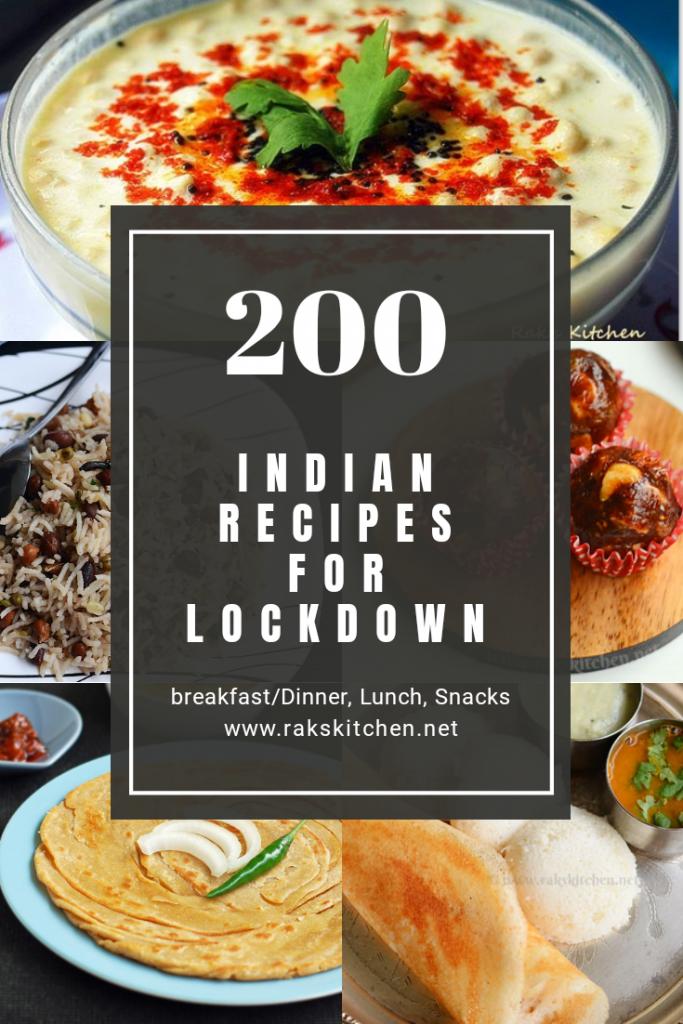 Lockdown recipes, Indian