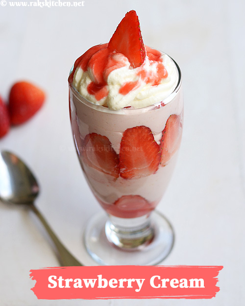 strawberry-cream-Indian-dessert