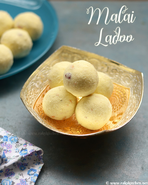 malai ladoo with milk powder