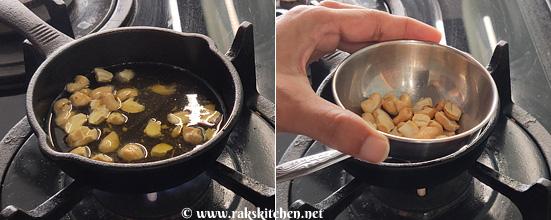 step1-roast nuts