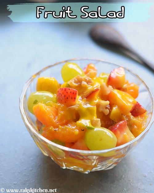 Salada de frutas, molho de hortelã tropical 2