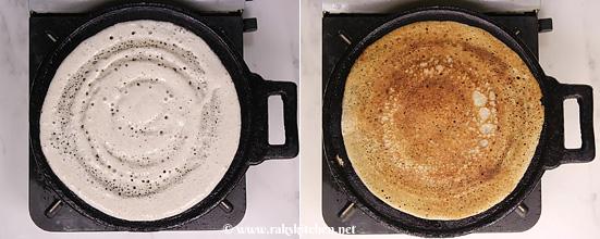 Bajra dosa, método de fermentação dosa milheto Pearl 2