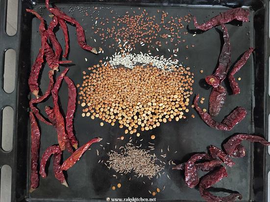 sambar-powder-in-oven