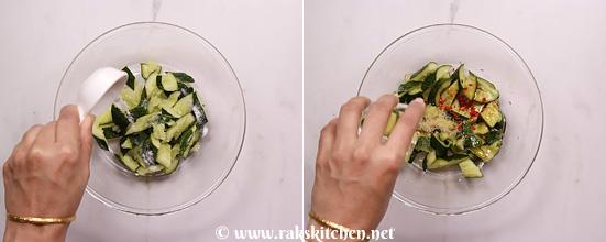 Receita de salada de pepino esmagado - Cozinha Raks 6