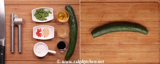 Receita de salada de pepino esmagado - Cozinha Raks 2