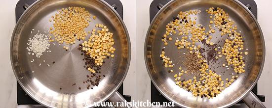 Receita de sambar podi, pó de sambar caseiro 4