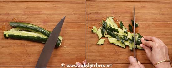 Receita de salada de pepino esmagado - Cozinha Raks 4