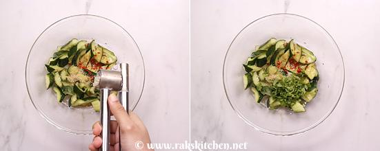Receita de salada de pepino esmagado - Cozinha Raks 8