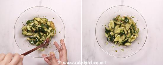Receita de salada de pepino esmagado - Cozinha Raks 10
