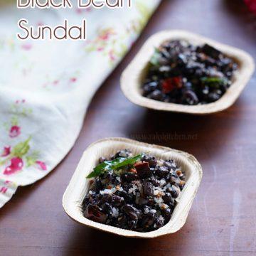 Black bean sundal, quick sundal recipes