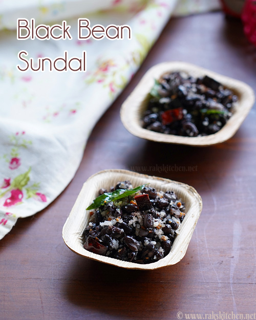 Black bean sundal, quick sundal recipes