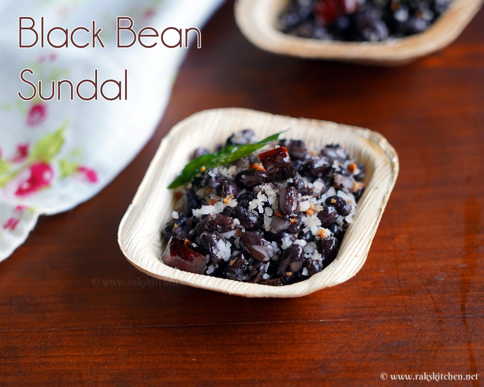 Black bean sundal