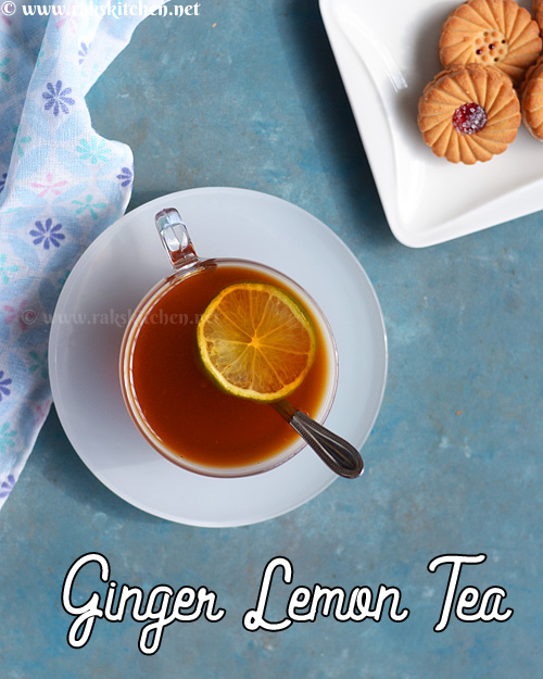 receta de té de jengibre y limón