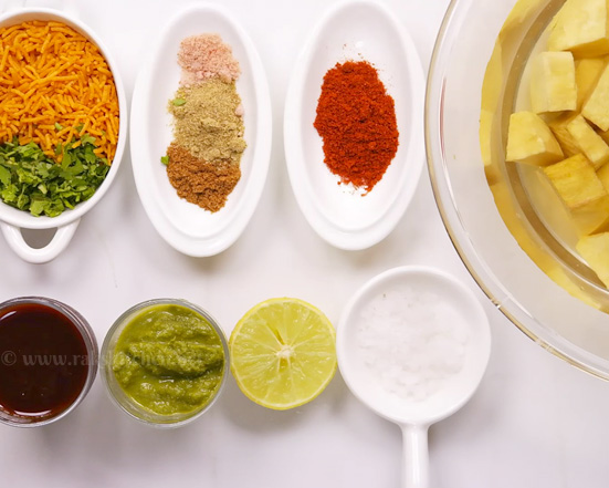 sweet potato chaat ingredients