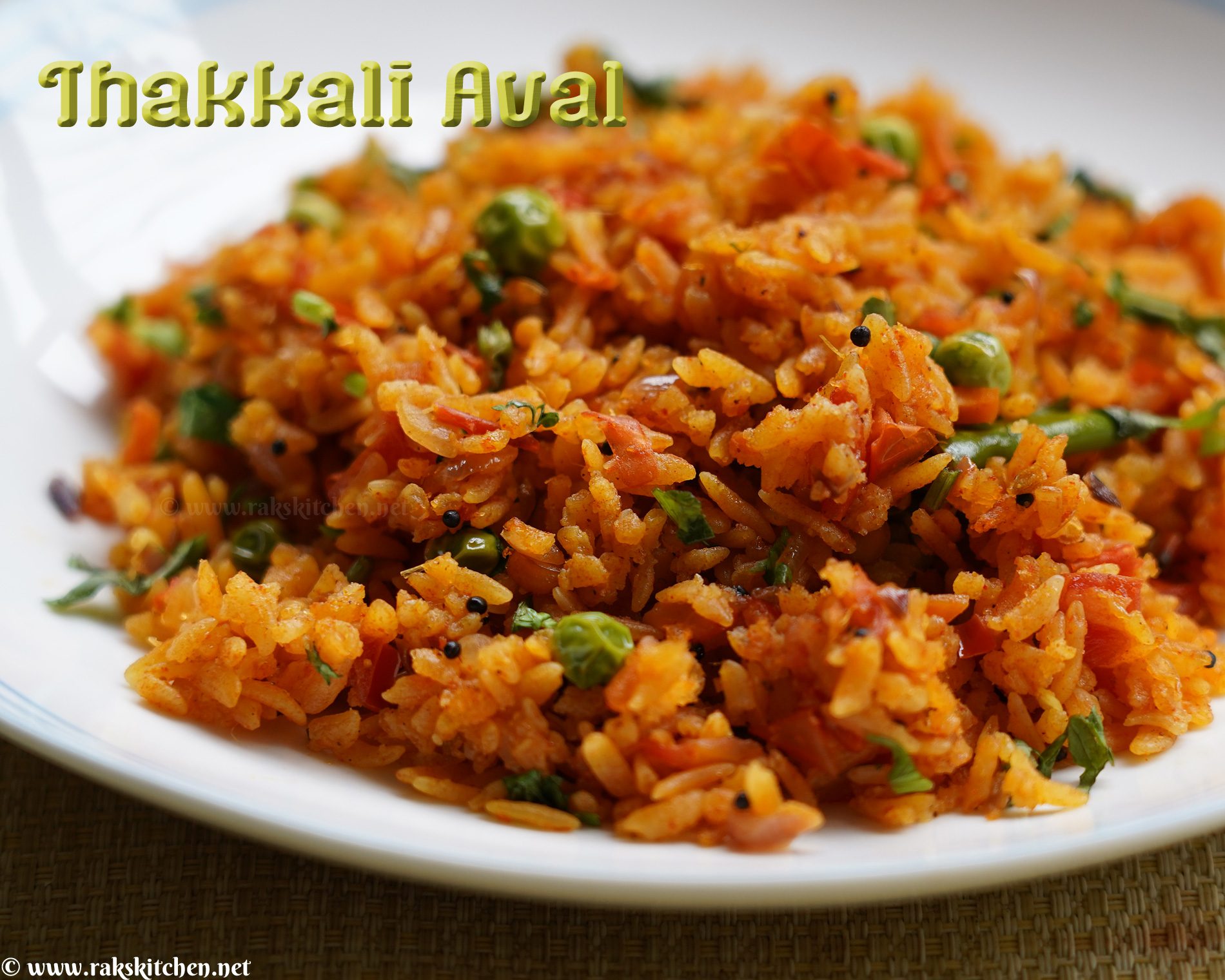 Tomato poha, tomato aval recipe | Indian breakfast recipes