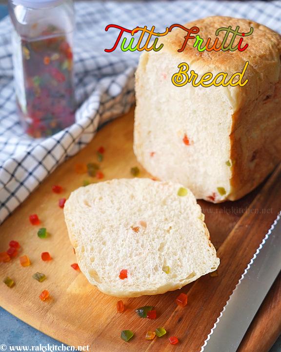receta de pan de tutti frutti