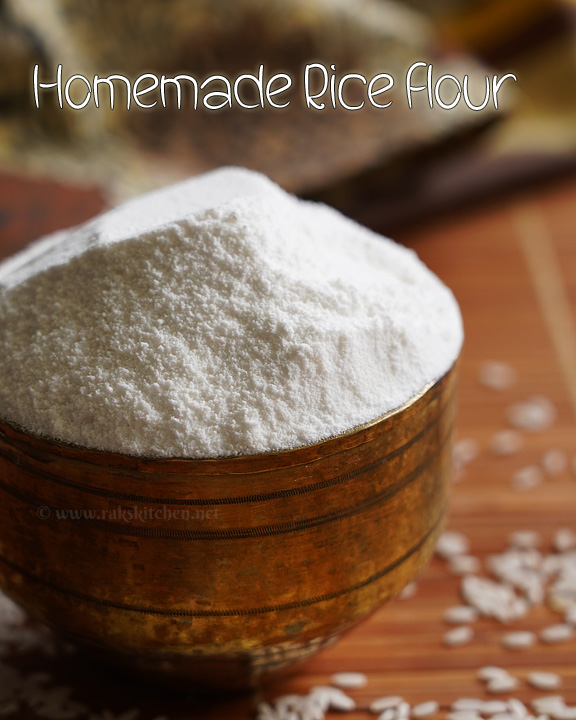Homemade rice flour