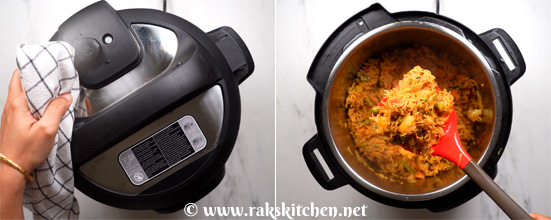 Instant pot vegetable biryani-ready
