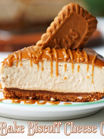 Serving suggestion for biscoff cheese cake