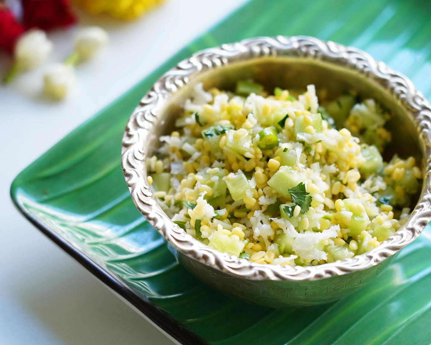 Cucumber kosambari recipe, Vada pappu