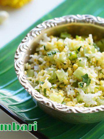 cucumber kosambari recipe