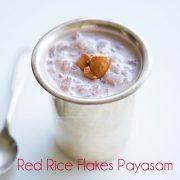 copos de arroz rojo payasam