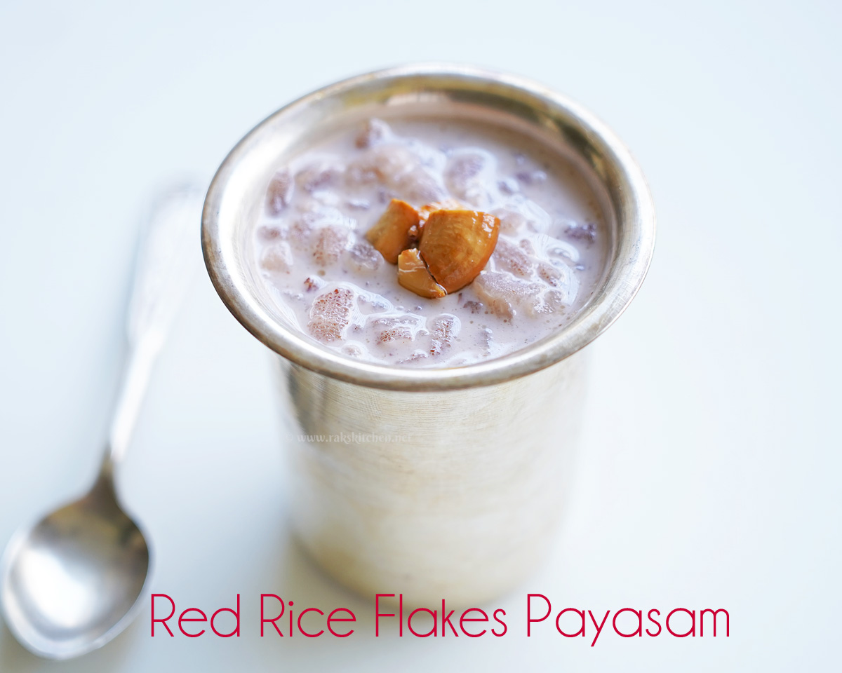 Red rice flakes payasam | Tamil New Year recipes