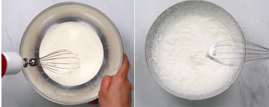 whip cream stiff peak