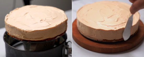 unmolding cheesecake, smooth