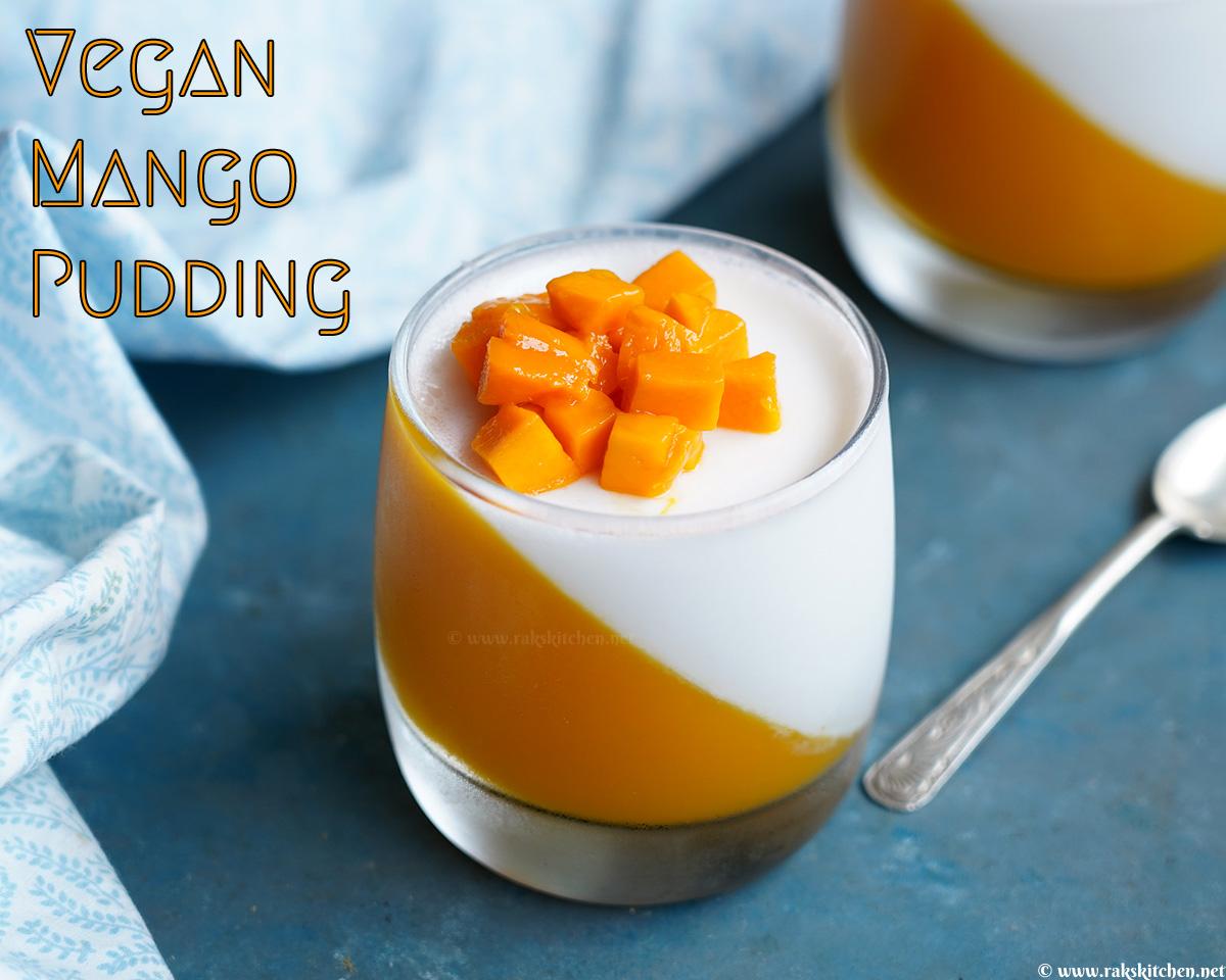 vegan mango panna cotta / vegan mango pudding