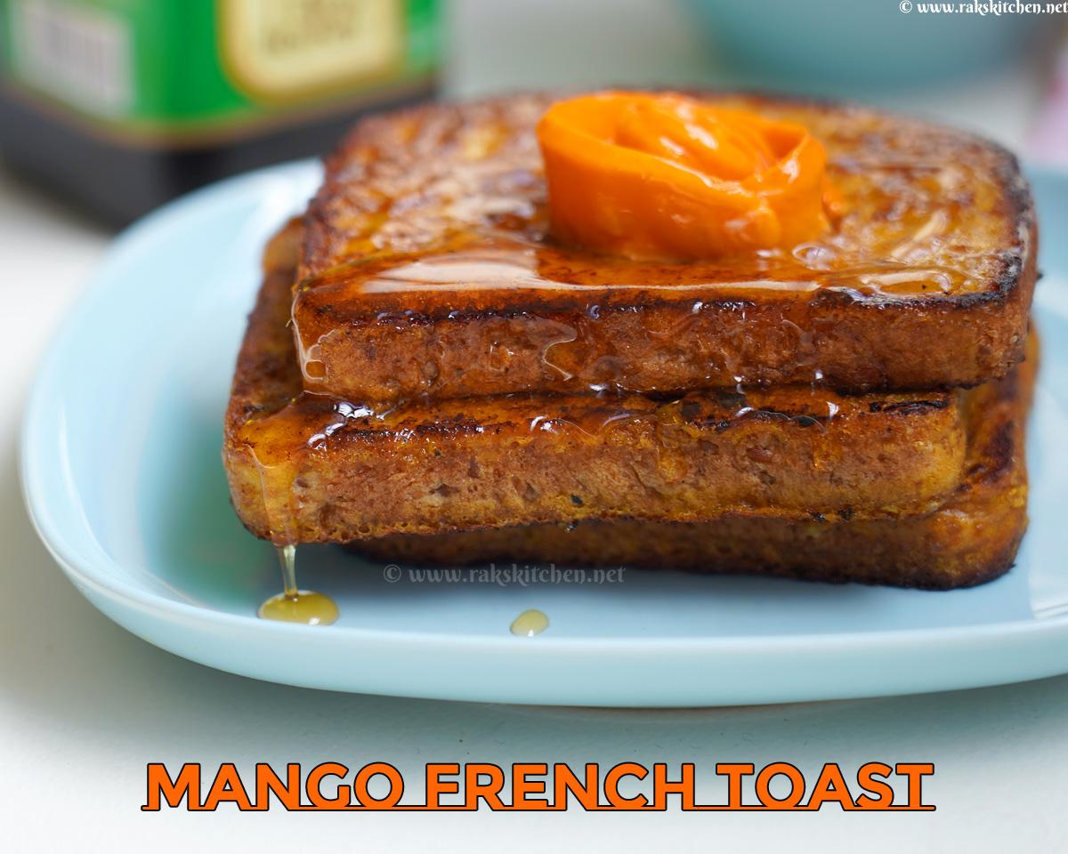 Egg free mango French toast