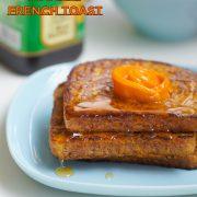 honey driping mango French toast